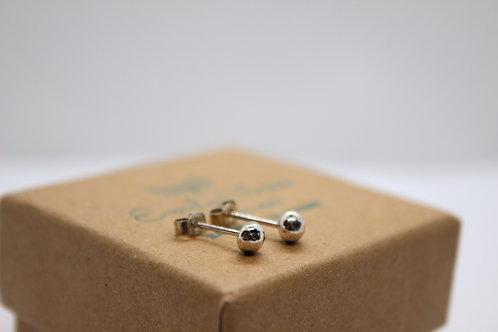 Sterling silver pebble earrings , sterling silver earrings, eco-friendly, handmade jewellery