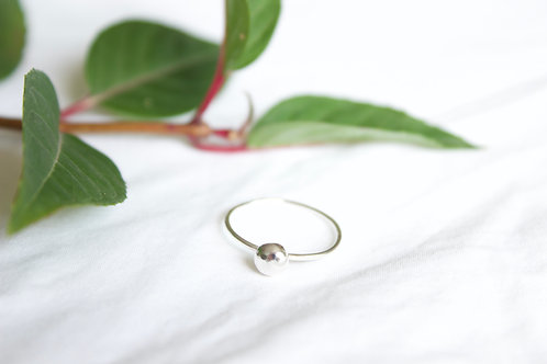 sterling silver pebble ring, eco friendly, sterling silver ring