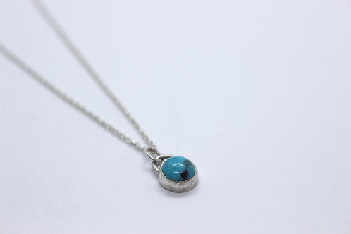 Turquoise and sterling silver necklace, handmade jewellery, eco friendly