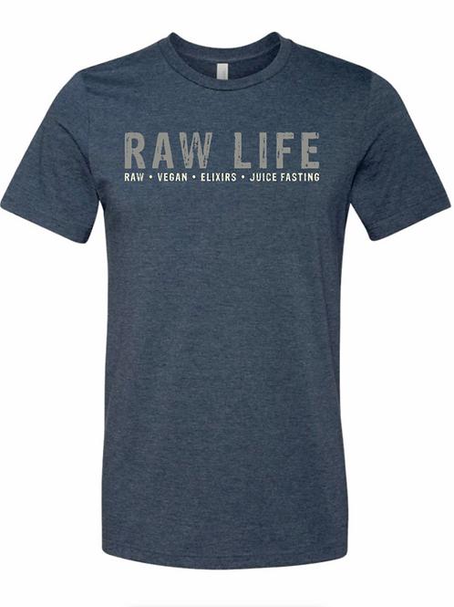 RAW LIFE - T Shirt (navy blue)