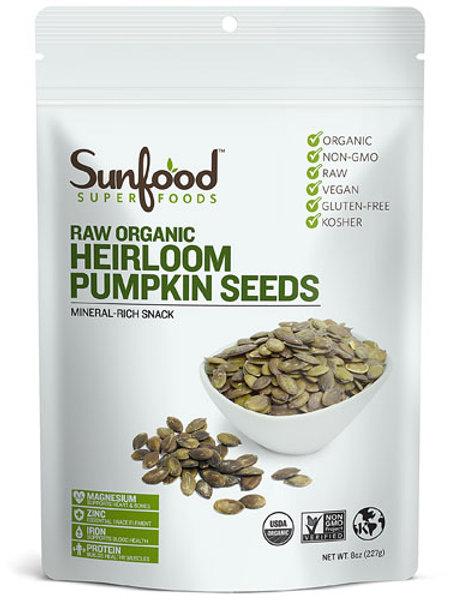 8oz - Raw Organic Pumpkin Seeds