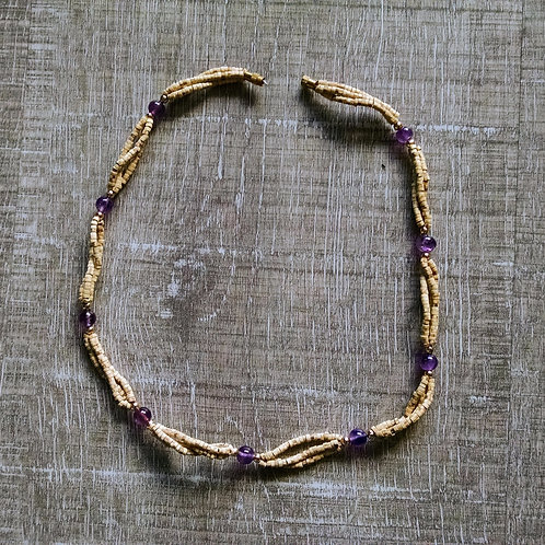 Amethyst Tulasi Neck Beads
