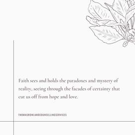 Faith & Fear Part III: Mystery