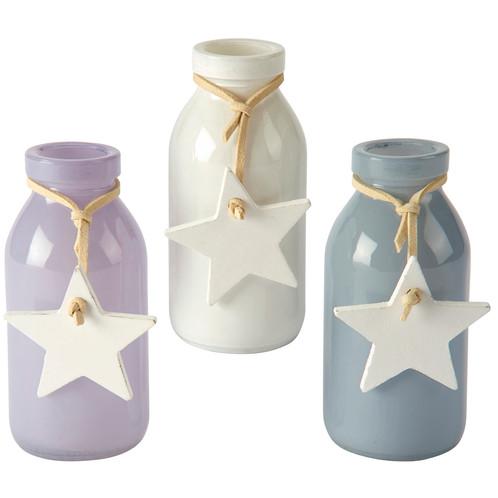 Mini Glass Vase With Star