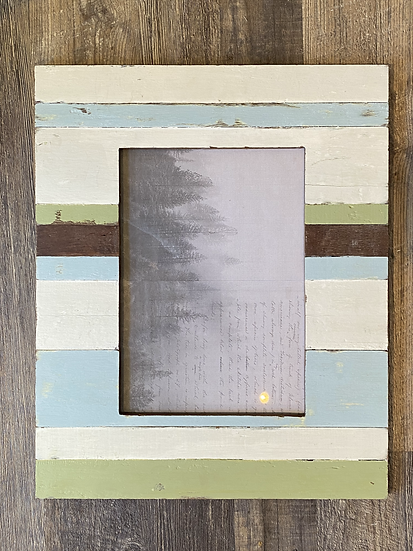Large teak frame with stripe