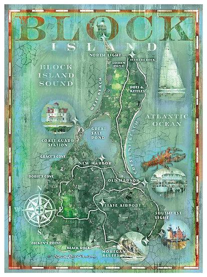 Block Island Map 4215