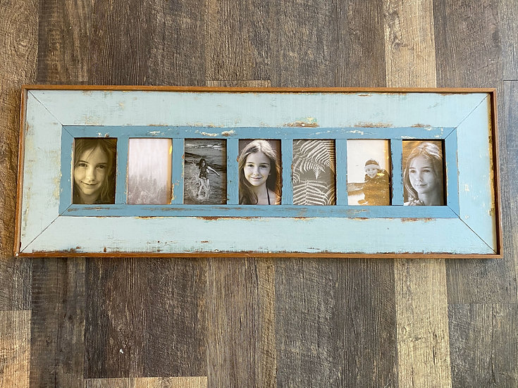 7 picture teak frame