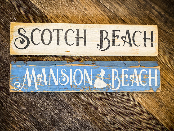Block Island Beach Sign