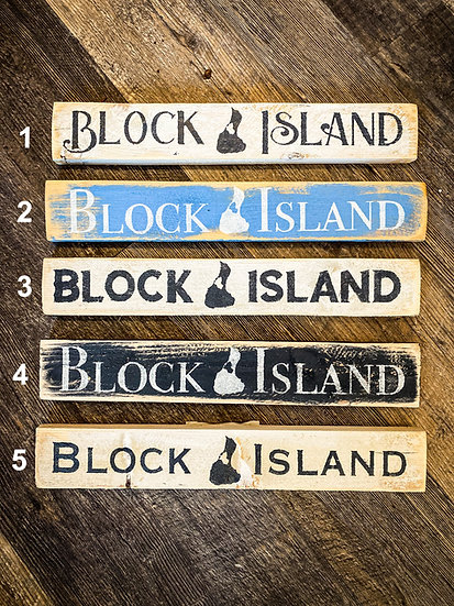 Small Rustic Block Island Sign