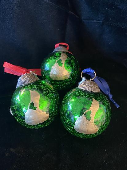 "2"" Green Block Island Ornament"