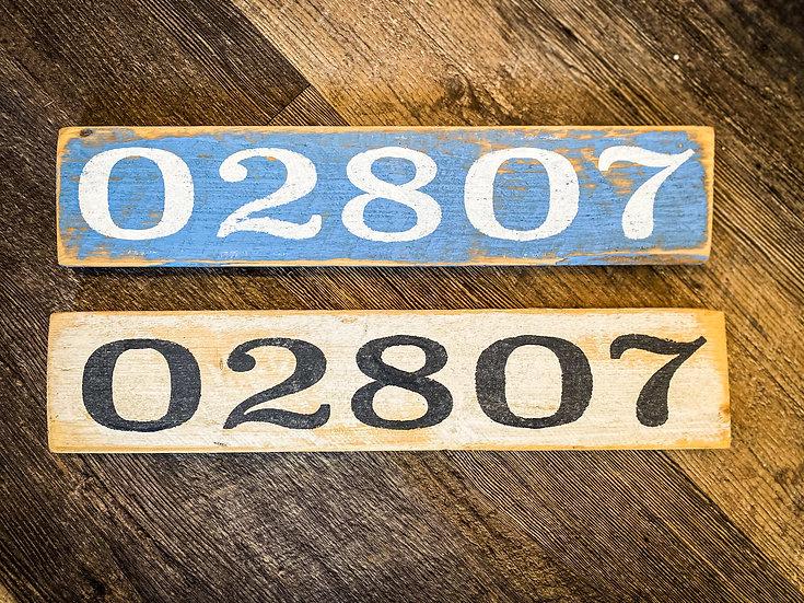 Block Island Zip Code Sign 02807