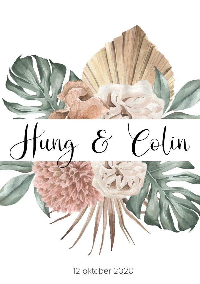 Voorkant Trouwkaart Hung & Colin