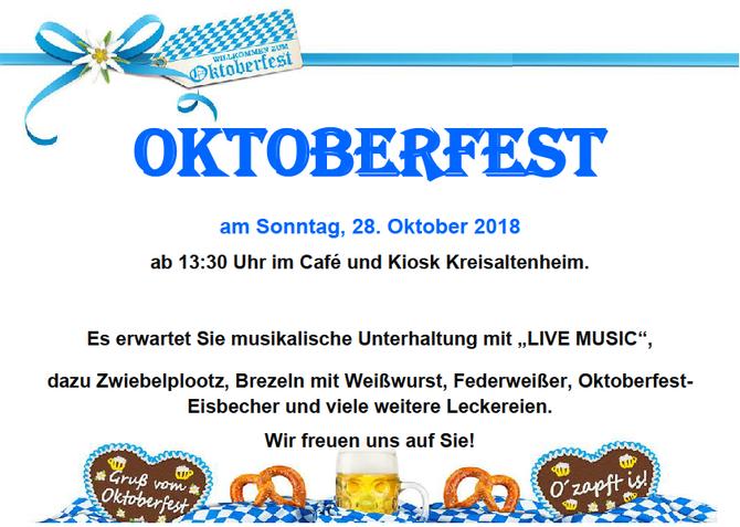 Oktoberfest im Café im Kreisaltenheim