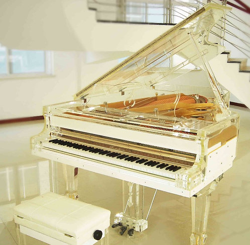Luxurious Crystal Grand Piano
