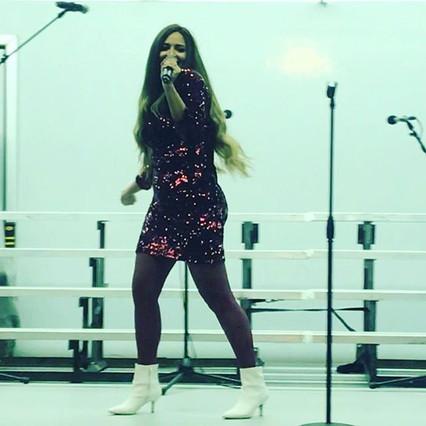 Featured Singer Gabriella Sanchez singin