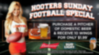hooters football chicken wings