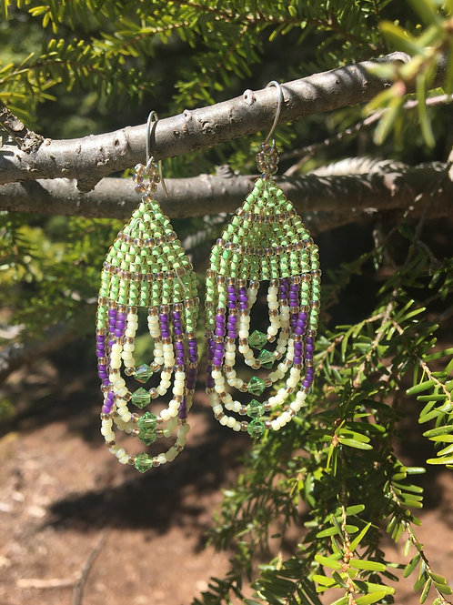 Green and purple sparkles
