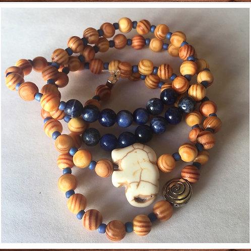 Thoughtful sodalite bracelet