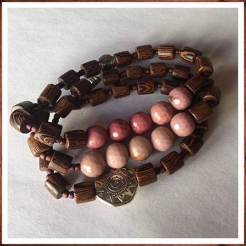 Men's Haitian Rhodonite Bracelet
