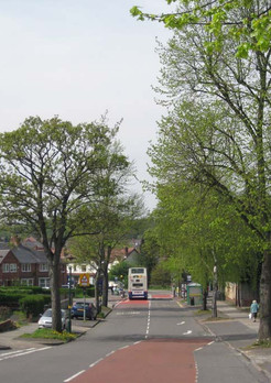 Approaching Selly Park from Dads Lane