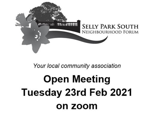 Open Forum Meeting Invite 23rd Feb at 7.30pm