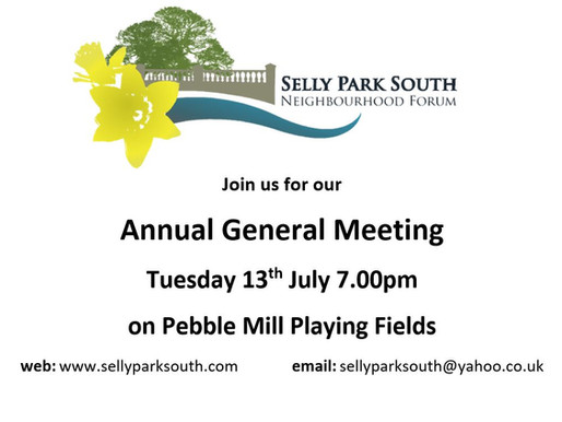 AGM Invitation 13th July at 7.00pm
