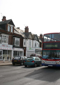Shops and businesses on Pershore Road