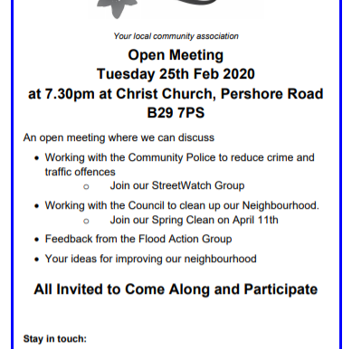 Open Forum Meeting Invite 25th Feb