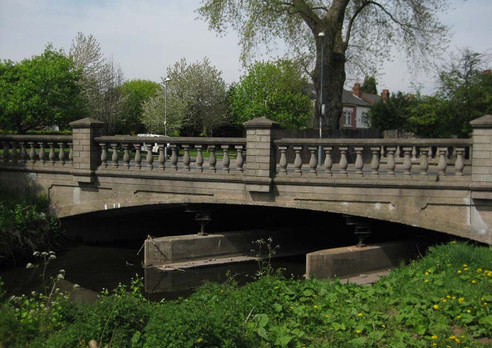 The old Dogpool Lane bridge