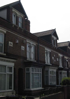 Terraced houses on Pershore Road