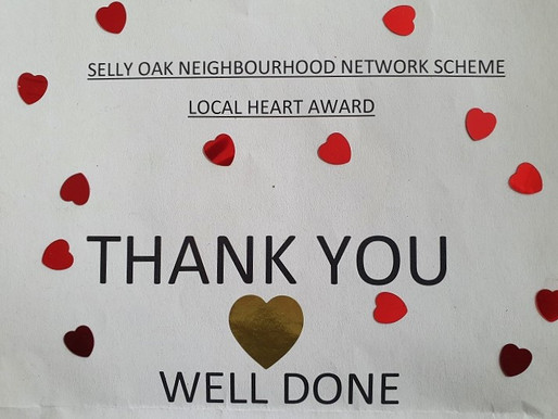 Local Heart Award from Selly Oak NNS