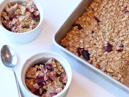 Apple Cherry Oat Bake