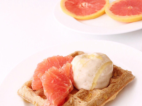 Sweet Grapefruit Waffles