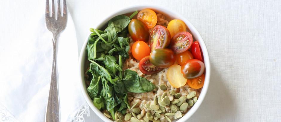 Savory Veggie Oatmeal