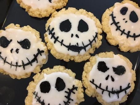 Halloween Jack Skellington Sugar Cookies