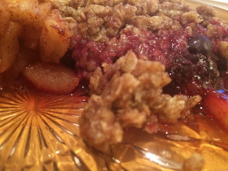 Fruit Crisp With An Oatmeal Crumble