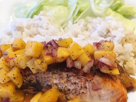 Caribbean Salmon Bowl