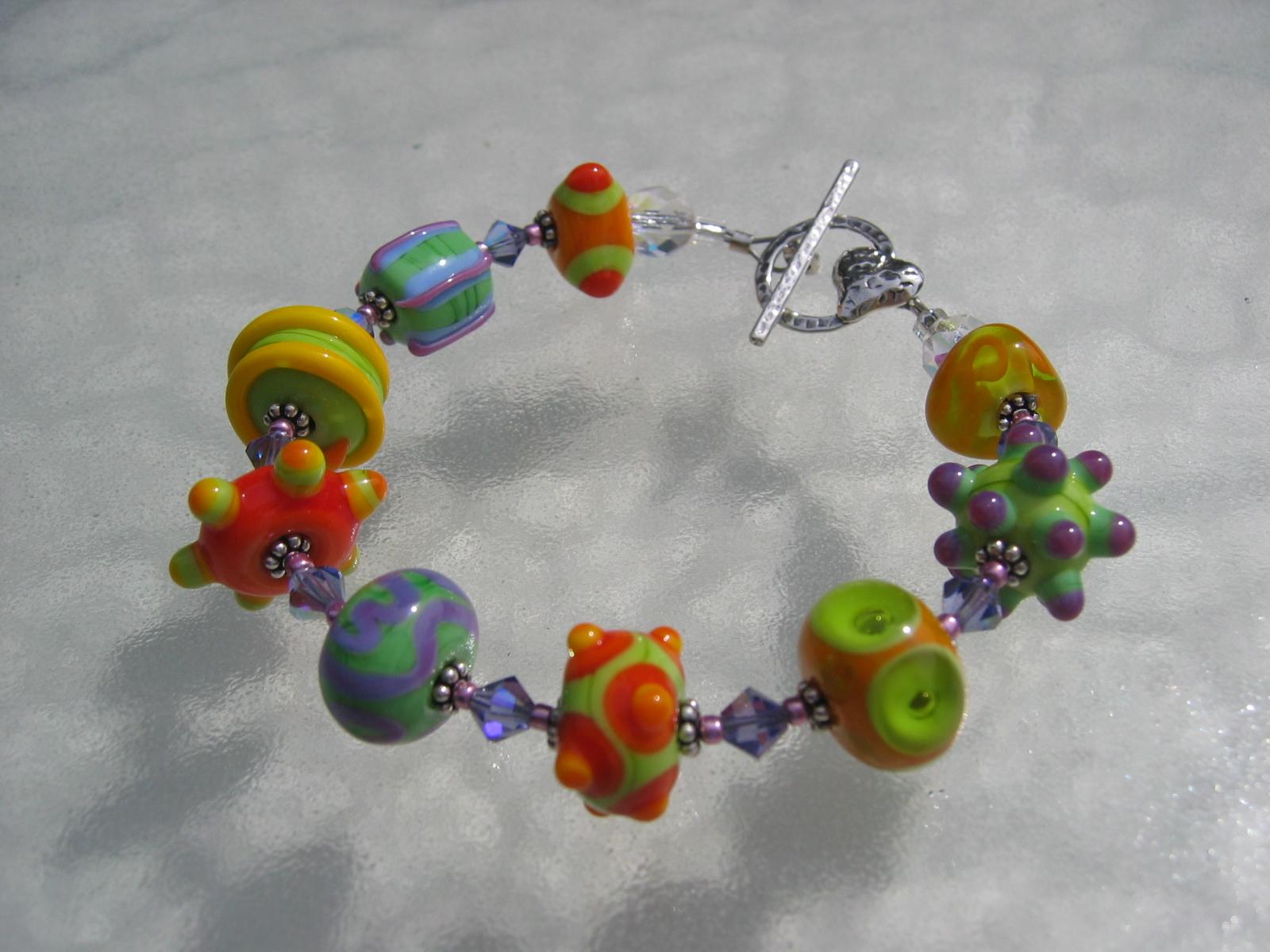 becky bracelet orange-green 032706 007