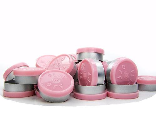 "20mm Pink Flip-Off Seals - ""Flip-Off"""