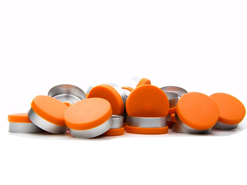 "20mm Orange Flip-Off Seals - ""Matt Frost"""