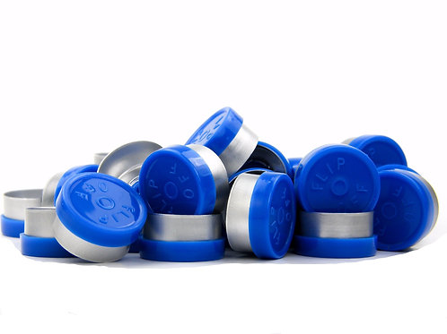 "13mm Blue Flip-Off Seals - ""Flip-Off"""