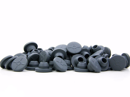 13mm Butyl Rubber Stoppers - Grey