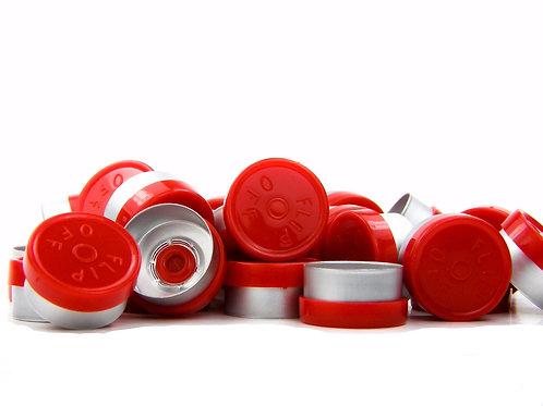 "13mm Red Flip-Off Seals - ""Flip-Off"""