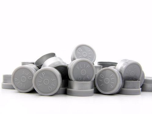 """13mm Grey Flip-Off Seals - """"Flip-Off"""""""