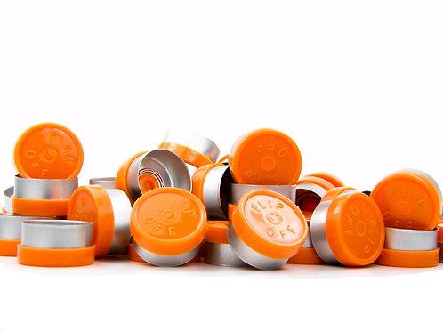 "13mm Orange Flip-Off Seals - ""Flip-Off"""