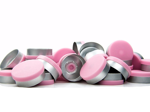 "20mm Pink Flip-Off Seals - ""Matt Frost"""