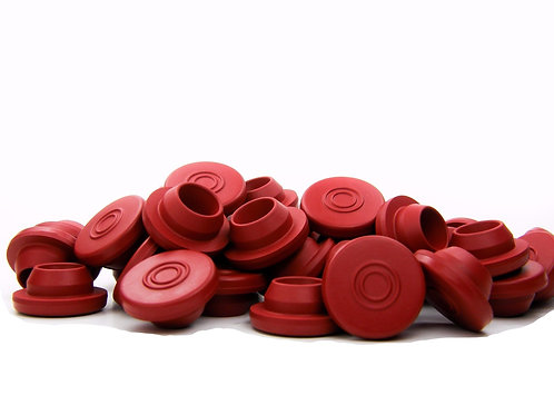 20mm Butyl Rubber Stoppers - Red