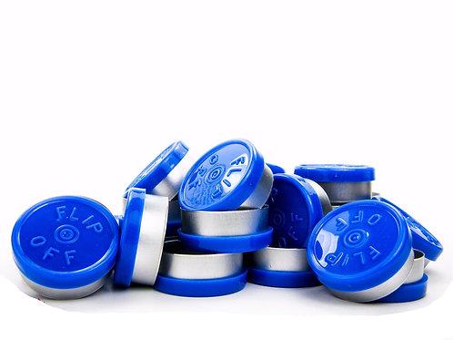 "20mm Blue Flip-Off Seals - ""Flip-Off"""