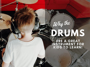 Why the DRUMS are a great instrument for kids to learn!