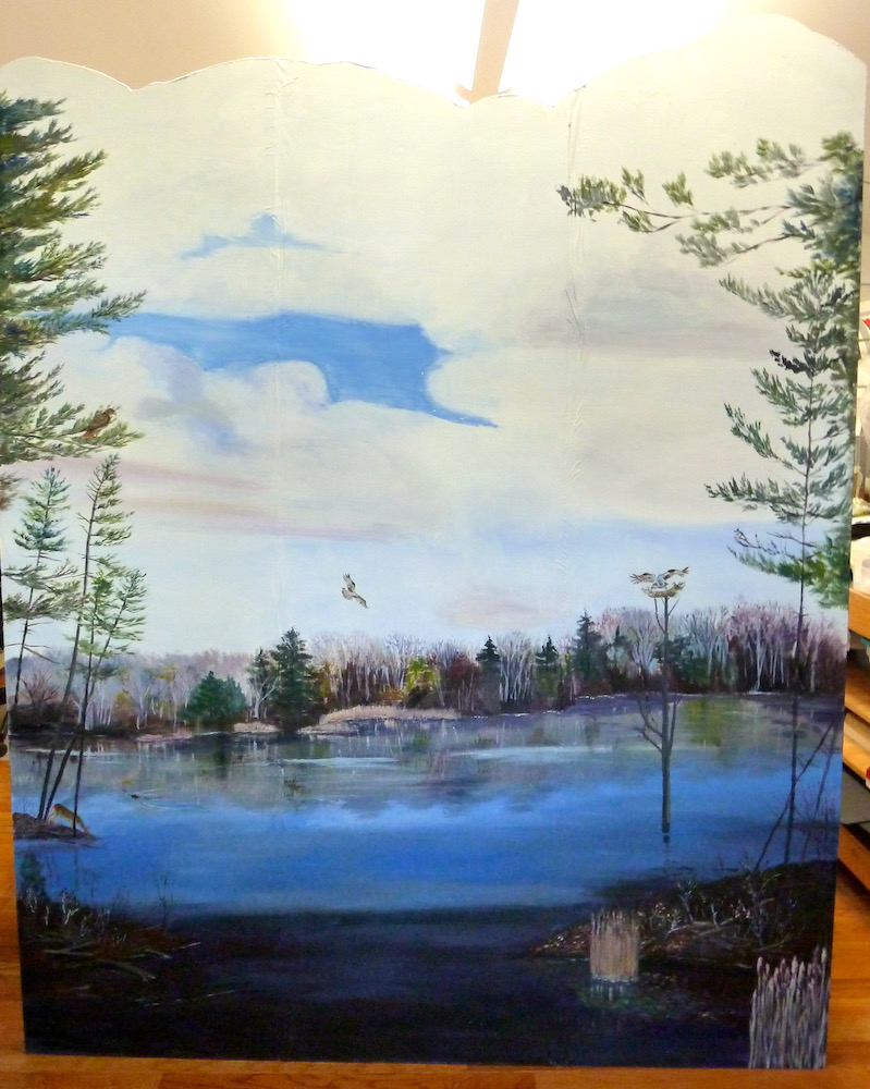 Beaver marsh mural